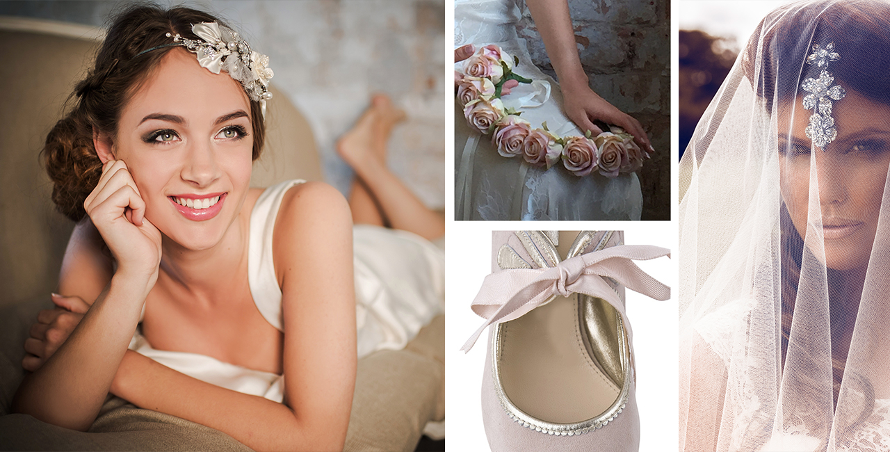 Accessories Slider Veils, Shoes, Headdresses, Flower Garlands Liecester Noble and Wright