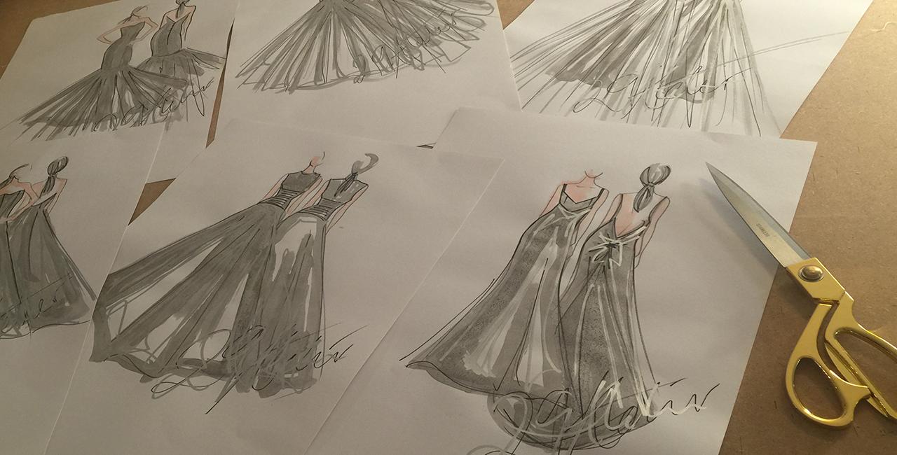 Inspire your imagination mood board bespoke weddimg dresses Leicester